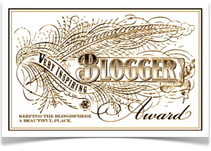 Very Inspiring Blogger Award - Tracy Shawn